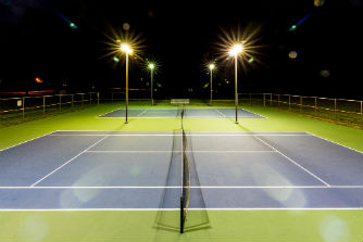 Tennis Courts at Night - Page 01