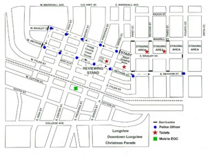Longview Christmas Parade route, related road closures